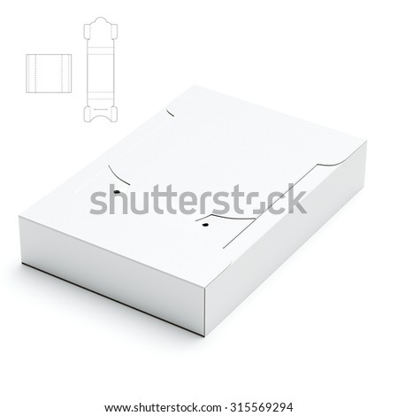 Dispenser Box from 2 Pieces with Die Line Template