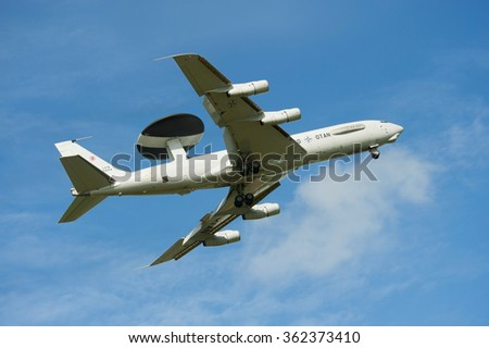 Display at the Royal Dutch Air Force Open Day. september 17, 2011 in Leeuwarden, The Netherlands - stock photo