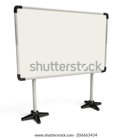 Display board isolated on white background