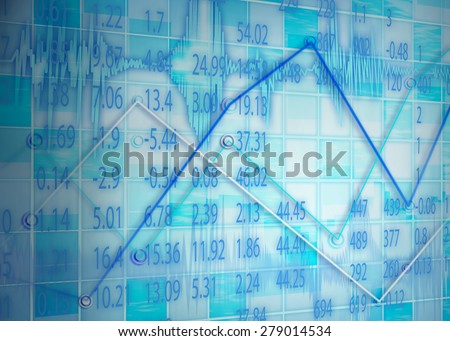 Display of stock exchange graph background