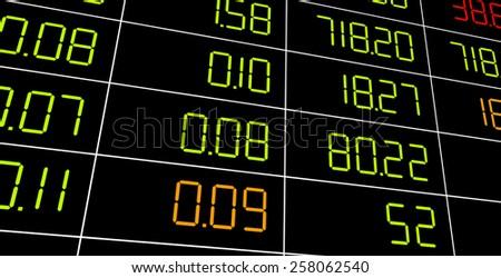 Display of Stock market quotes. - stock photo