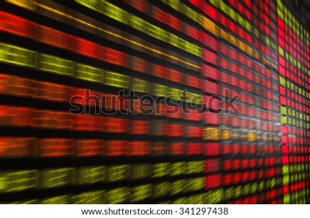 Display of Stock market quotes - stock photo