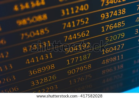 Display of Stock market quotes - stock photo