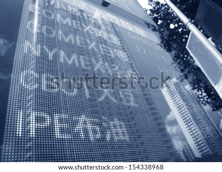 Display of Stock market quotes in shanghai,China - stock photo