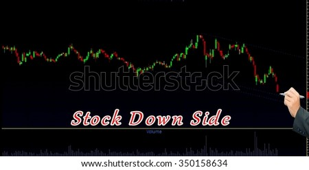 Display stock market goes down and a businessman devastated   - stock photo