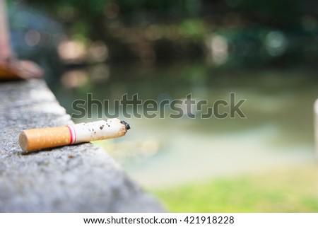 Disposable cigarette  - stock photo