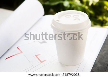 Disposable coffee cup - stock photo