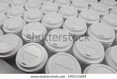 Disposable coffee cups - stock photo