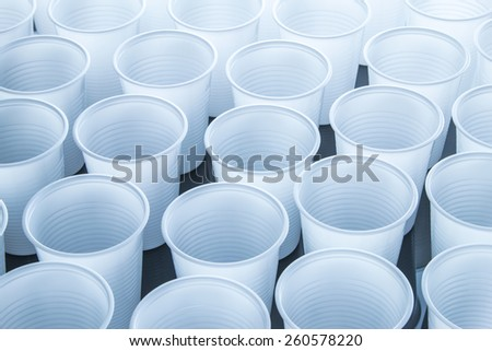 Disposable cups - stock photo