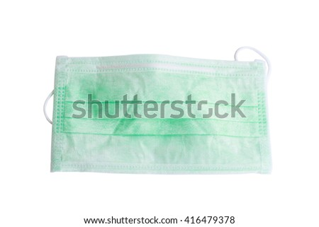 Disposable face mask isolated on white background. - stock photo