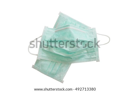 Disposable mask isolated on white background