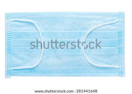 Disposable medical protective mask isolated on white background  - stock photo
