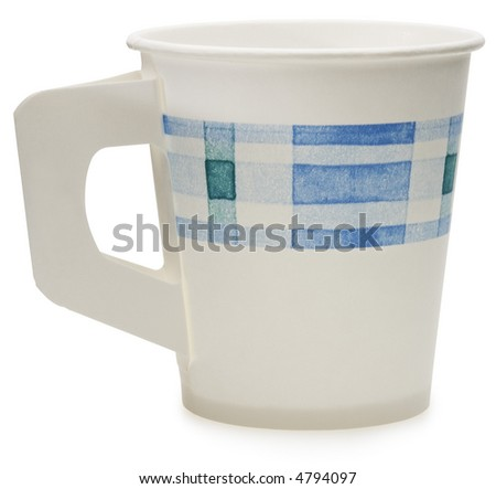 Disposable Paper Cup - isolated on white