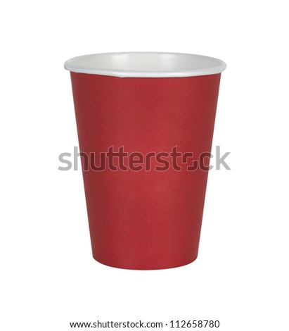 Disposable red Cup Isolated On White