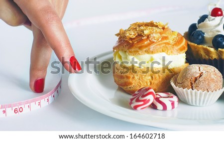 Disrupting the diet concept - stock photo