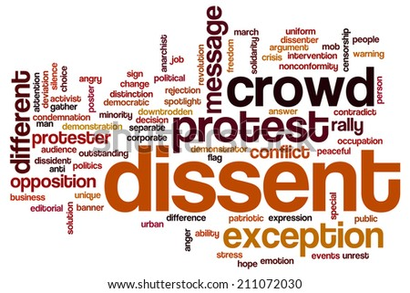 Dissent concept word cloud background