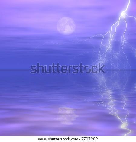 Distant Storm - stock photo