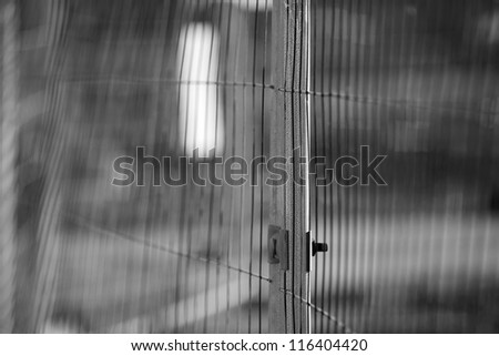 Distorted Boundaries - stock photo