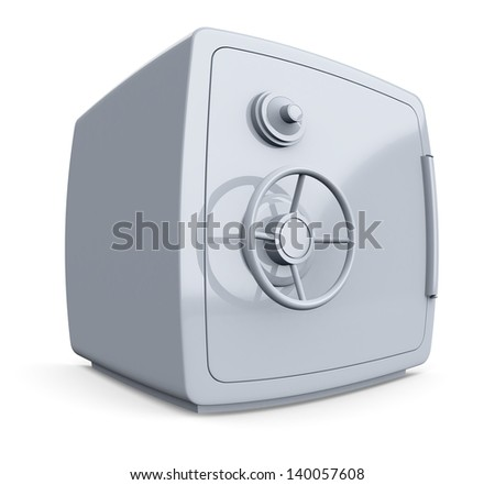 distorted view of a safe (3d render)