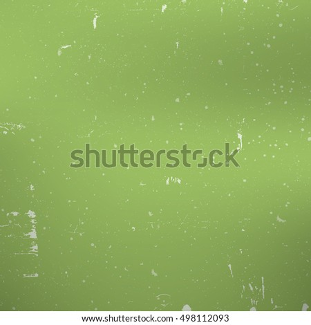 Distress Green Paint Texture For Making Your Design Shabby And Aged. Dust And Grain Empty Color Grunge Background.