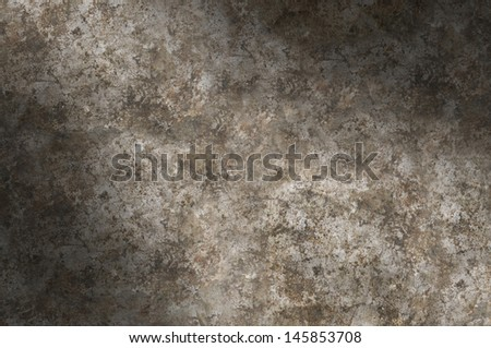Distressed gray metal surface texture lit diagonally - stock photo