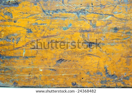 Distressed Painted Wood