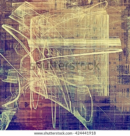 Distressed texture with ragged grunge overlay. Wrinkled background or backdrop with different color patterns: yellow (beige); brown; blue; gray; purple (violet); pink - stock photo