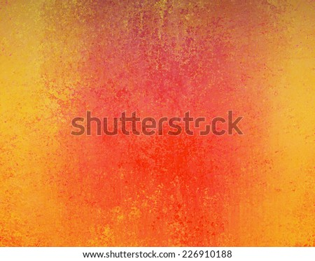 distressed yellow orange and red background color with vintage texture