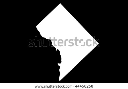 District of Columbia - black background
