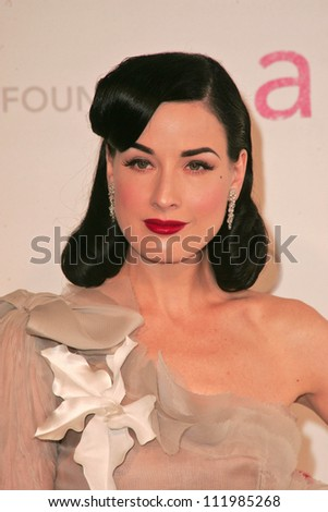 Dita Von Teese at the 2007 Elton John Aid Foundation Oscar Party, Pacific Design Center, West Hollywood, CA 02-25-07