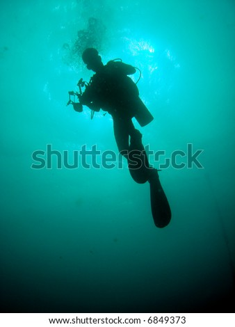 Diver and light