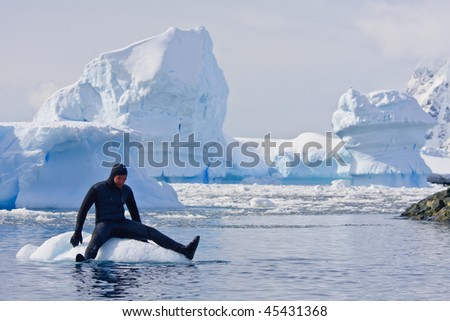 Diver on the - stock photo