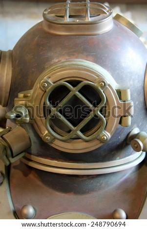 Diver's helmet  - stock photo