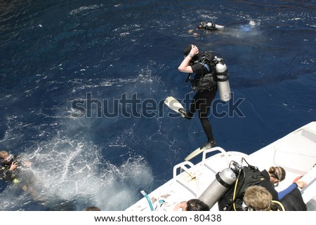 Divers, Egypt - stock photo