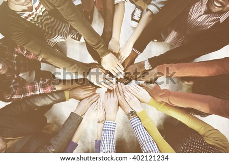 Diverse and Casual People and Togetherness Concept - stock photo