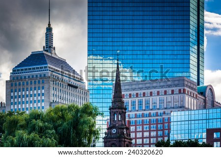 Diverse buildings in Boston, Massachusetts. - stock photo