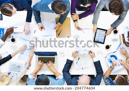 Diverse Business People on a Meeting - stock photo
