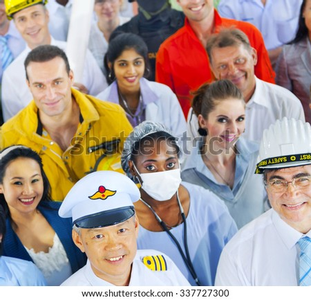 Diverse Business People Successful Career Concept - stock photo