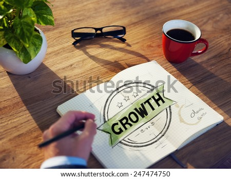 Diverse Businessman Brainstorming About Growth - stock photo