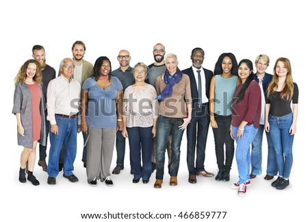 Diverse Crowd Mixed Standing Concept