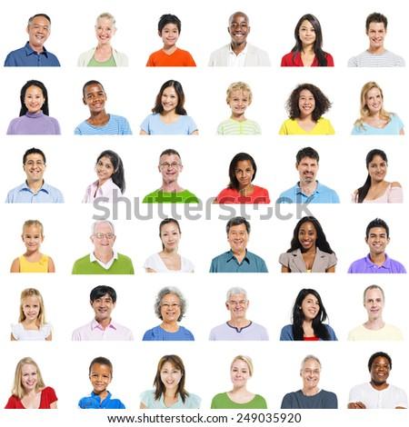 Diverse Diversity Ethnic Ethnicity Variation Unity Concept - stock photo