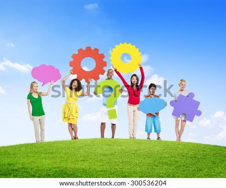 Diverse Diversity Ethnic Ethnicity Variation Unity Togetherness Concept - stock photo