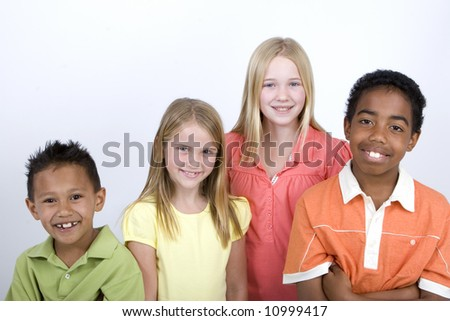 Diverse group of kids