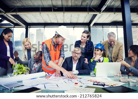 Diverse Group of People Brainstorming - stock photo