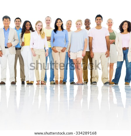 Diverse Group People Global Community Concept - stock photo