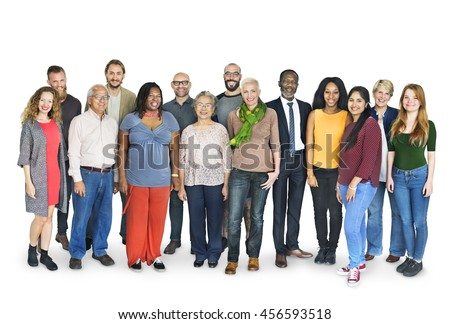 Diverse Group People Standing Concept - stock photo