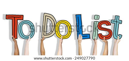 Diverse Hands Holding the Words To Do List - stock photo