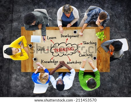 Diverse People and Training Concepts - stock photo