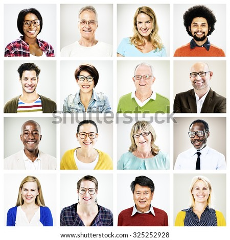 Diverse People Happiness Friendship Portrait Concept