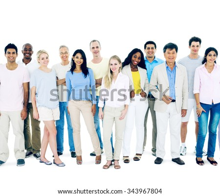 Diverse People Happiness Friendship Togetherness Concept - stock photo